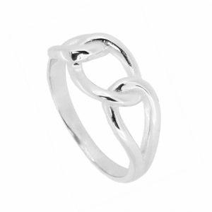 anillo cadena plata