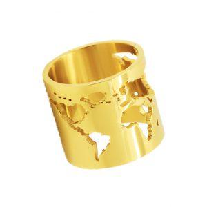 anillo mundo oro